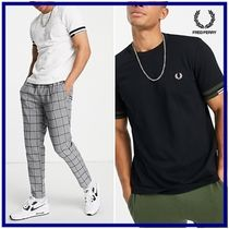 ☆Fred Perry☆abstract cuffコットン半袖Tシャツ 関税・送料込