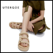 【Uterque】ROPE LEATHER FLAT SANDAL