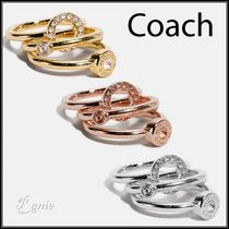 【COACH】Open Circle Haloリングセット◆3連リング