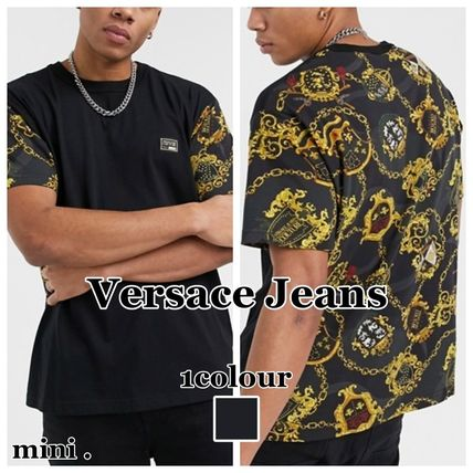 【Versace Jeans Couture】バロックプリント Tシャツ 半袖