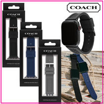 国内発送【COACH】Rubber Apple Watch Band 42/44mm