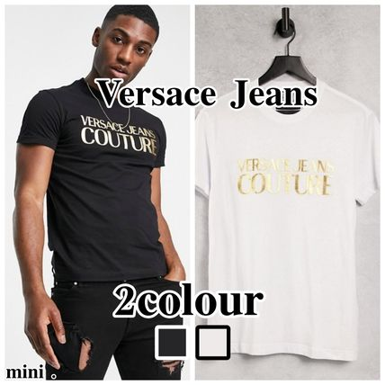 【Versace Jeans Couture】ゴールドチェスト Tシャツ 半袖/2色