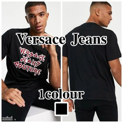 【Versace Jeans Couture】metalロゴ半袖Tシャツ/ブラック