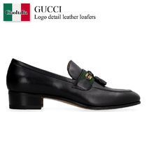 Gucci Logo detail leather loafers