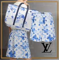 【NEW】21SS 直営買付 新作LV INK WATERCOLOUR BOARD SHORT