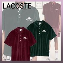 ◆ Lacoste x Ricky Regal ◆ ベルベット ポロシャツ 送関税込