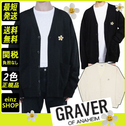 【GRAVER】Flower Dot Embroidery Knit Cardigan