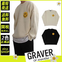【GRAVER】Bookle Embroidery Dot Smile Round Knit