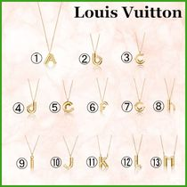 LOUIS VUITTON♠人気!イニシャルネックレスLV&ME AからM
