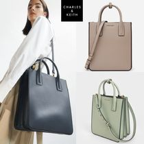 Charles & Keith★Double Handle Tote Large Shoulder Bag★2色