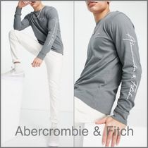 Abercrombie & Fitch(アバクロ) Tシャツ・カットソー Abercrombie & Fitch◇◆ 長袖 袖ロゴ Tシャツ【送料込】