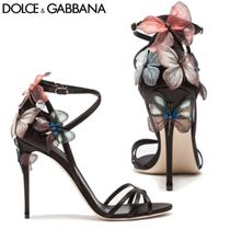 Dolce & Gabbana(ドルチェ&ガッバーナ) サンダル・ミュール ドルチェ&ガッバーナ直営店◆Satin sandal with embroidery