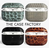 THE CASE FACTORY◆AIRPODPROレザーケース◆クロコ柄