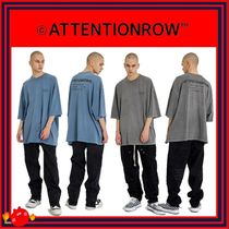 ATTENTIONROW(アテンションロー) Tシャツ・カットソー [ATTENTIONROW]Recycled Fuse Pigment Overfit Sleeve/追跡付