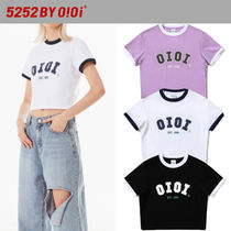 oioi korea(オアイオアイ) Tシャツ・カットソー ★2021SS新作★5252 by oioi★2021 SIGNATURE CROP T-SHIRTS_3色