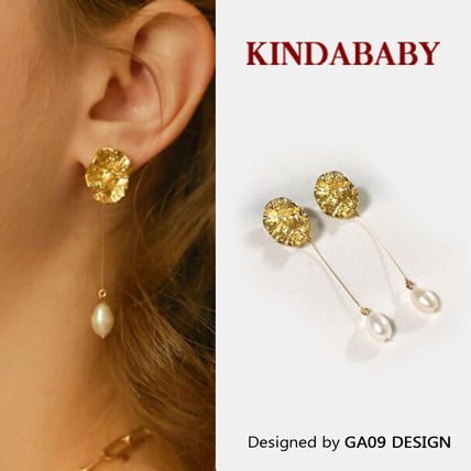 【KINDABABY】bold coin pearl drop earring(ピアス)☆追跡付
