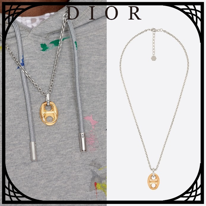DIOR CD チェーンリンク ペンダントネックレス すぐ届く (Dior/ネックレス・チョーカー) N1356HOMMT_D012