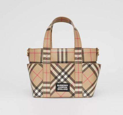【BURBERRY】キッズ チェック トートバッグ