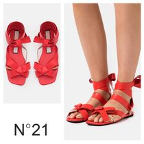 N°21 ☆ Bow-Embellished Flat Sandals