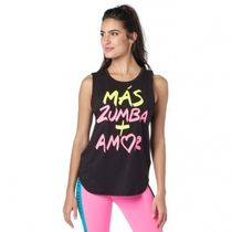 ★国内在庫★ ズンバ Zumba Pop Muscle Tank Bold Black