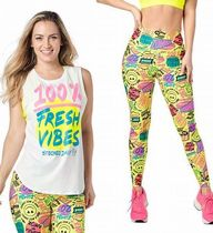 2点ZUMBA/PopMuscleTank&FreshVibesHighWaistedAnkleLeggings