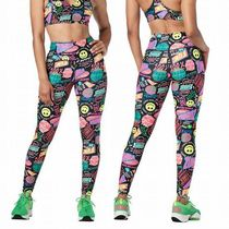 ☆ZUMBA☆ズンバ☆Fresh Vibes High Waisted Ankle Leggings BK