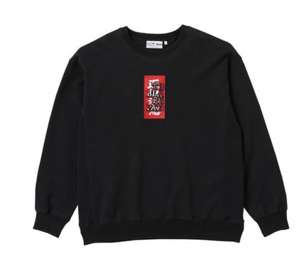Black Eye Patch HANDLE WITH CARE CREW SWEAT クルーネック