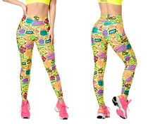 新作♪Zumba Fresh Vibes High Waisted Ankle Leggings -Caution