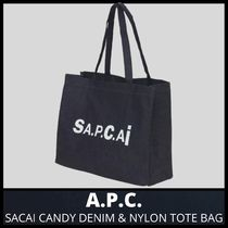 [A.P.C.] SACAI CANDY DENIM & NYLON TOTE BAG (送料関税込み)