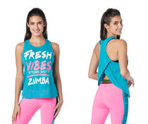 新作♪Zumbaズンバ Zumba Fresh Vibes Tank - Seaside Surf