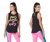 新作♪Zumbaズンバ Zumba Pop Muscle Tank - Bold Black