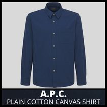 [A.P.C.] PLAIN COTTON CANVAS SHIRT (送料関税込み)
