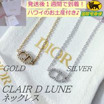 Dior(ディオール) ネックレス・ペンダント 直営店買付 DIOR CLAIR D LUNE シンプル CD ロゴ ネックレス