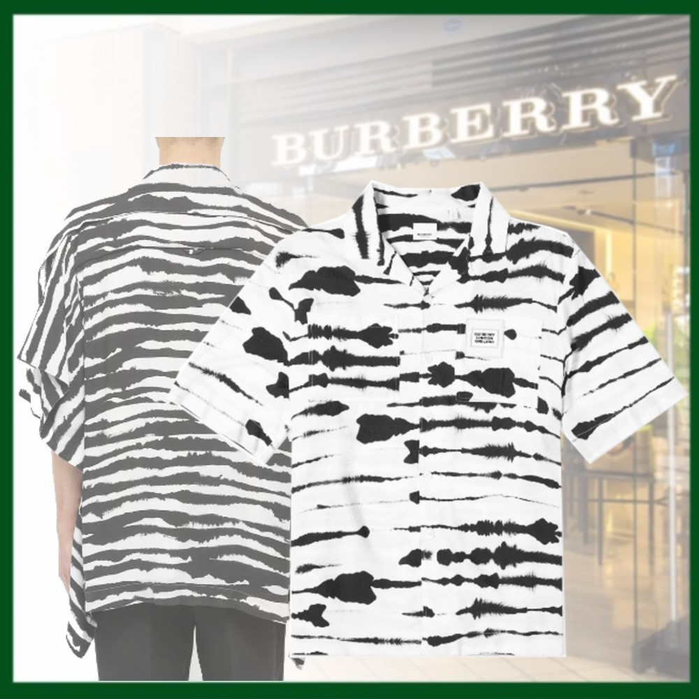 20SS◆BURBERRY◆OverSize◆ゼブラプリント◆ロゴ◆シャツ (Burberry London/シャツ) 67164030