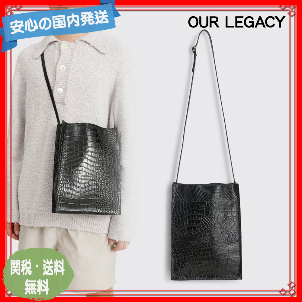 OUR LEGACY SUB トートバッグ クロコダイル ブラック 関税送料込 (OUR LEGACY/トートバッグ) 67185198