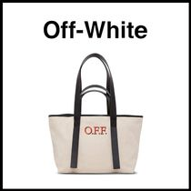 OFF-WHITE☆カーフスキンロゴトートバッグ