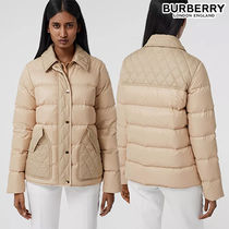 BURBERRY直営店 Diamond Quilted Panel Puffer Jacket