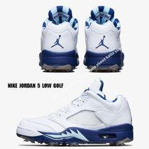 NIKE★JORDAN 5 LOW GOLF WING IT★WHITE/DEEP ROYAL/TOPAZ MIST