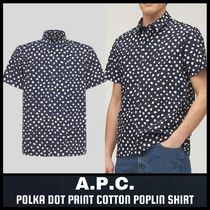 [A.P.C.] POLKA DOT PRINT COTTON POPLIN SHIRT (送料関税込み)