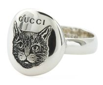 GUCCI Silver Blind For Love Feline Ring