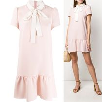 RED VALENTINO☆ bow detail scalloped short dress