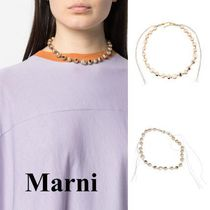 【MARNI】Multicolor Faux Pearls Necklace パールネックレス