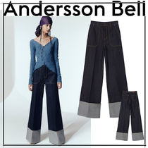 [ANDERSSON BELL] MONA SELVEDGE TURN-UP TROUSERS★韓国人気