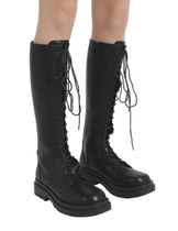 [our] Damon Lace Up Long Boots