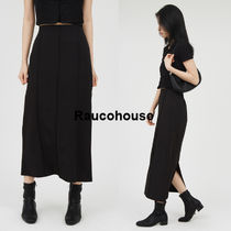 Raucohouse Outline slit long skirt