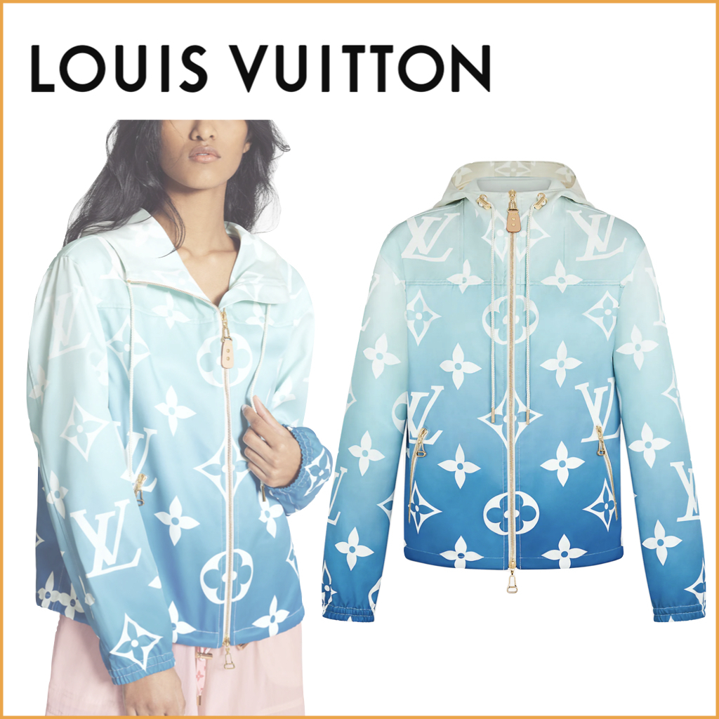 2021SS Louis Vuitton パーカー モノグラム グラデーション 青 (Louis Vuitton/パーカー・フーディ) 1A8TIF  1A8TIG  1A8TIH