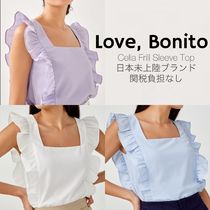 日本未入荷/送関込☆Love,Bonito☆Celia Frill Sleeve Top 3色