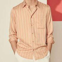 "sandro(サンドロ) シャツ ""sandro homme"" Flowing Shirt With Woven Stripes Peach"