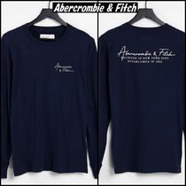 Abercrombie & Fitch(アバクロ) Tシャツ・カットソー 【Abercrombie & Fitch】チェスト バック ロゴ 長袖 Tシャツ ♪