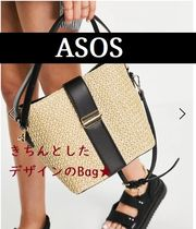 【Forever New/ASOS】*送関込*ゴールドの留め金のかごバッグ